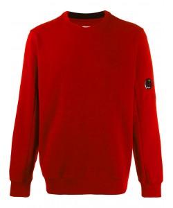 DIAGONAL RAISED FLEECE CREW NECK SWEATSH