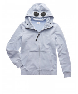 DIAGONAL FLEECE FULL-ZIP GOGGLE HOODIE